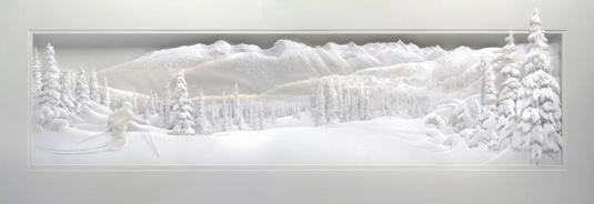 Calvin Nicholls Paper Art - Snow scene