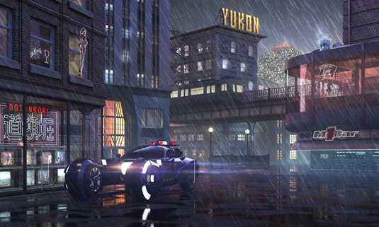 How to design a Blade Runner-style street scene   Creative