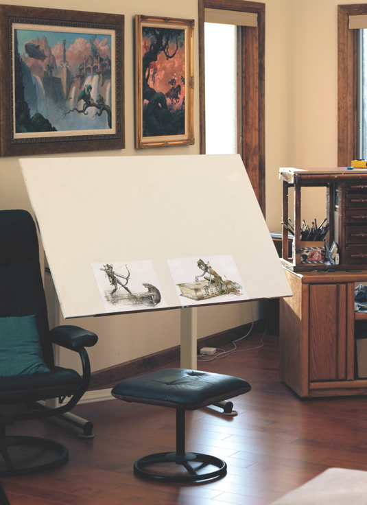War of the Worlds illustrator builds his dream studio