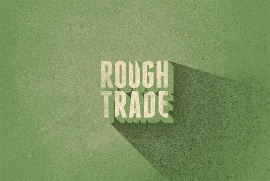 record label logos: rough trade