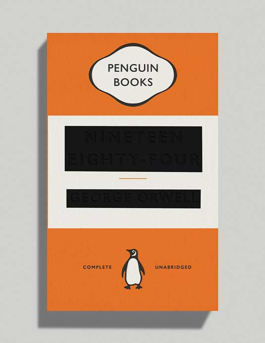 David Pearson's cover for George Orwell's 1984
