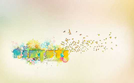 Typography tutorials: create dynamic recessed watercolour typography
