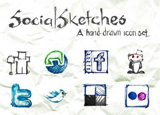 social media icons socialsketch