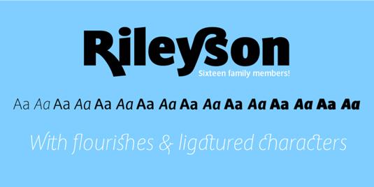Rileyson font