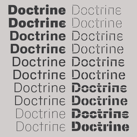 Doctrine typeface