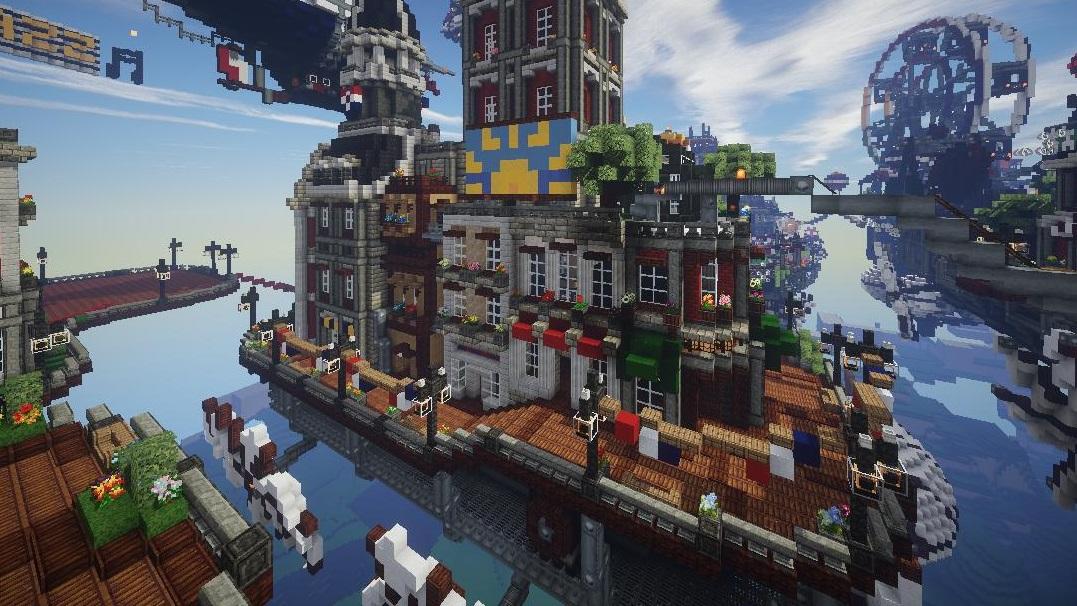BioShock Infinites Columbia appears in the skies of Minecraft