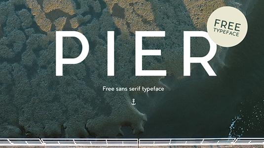 Free font: Pier