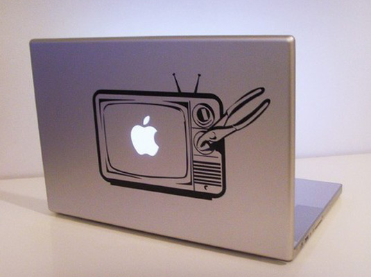 Mac decals - Old TV