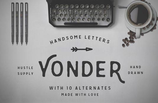 Yonder font
