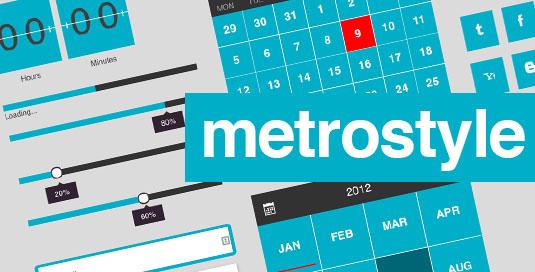 Best free UI kits: MetroStyle