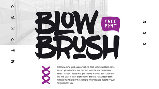 Free graffiti fonts: Blow Brush