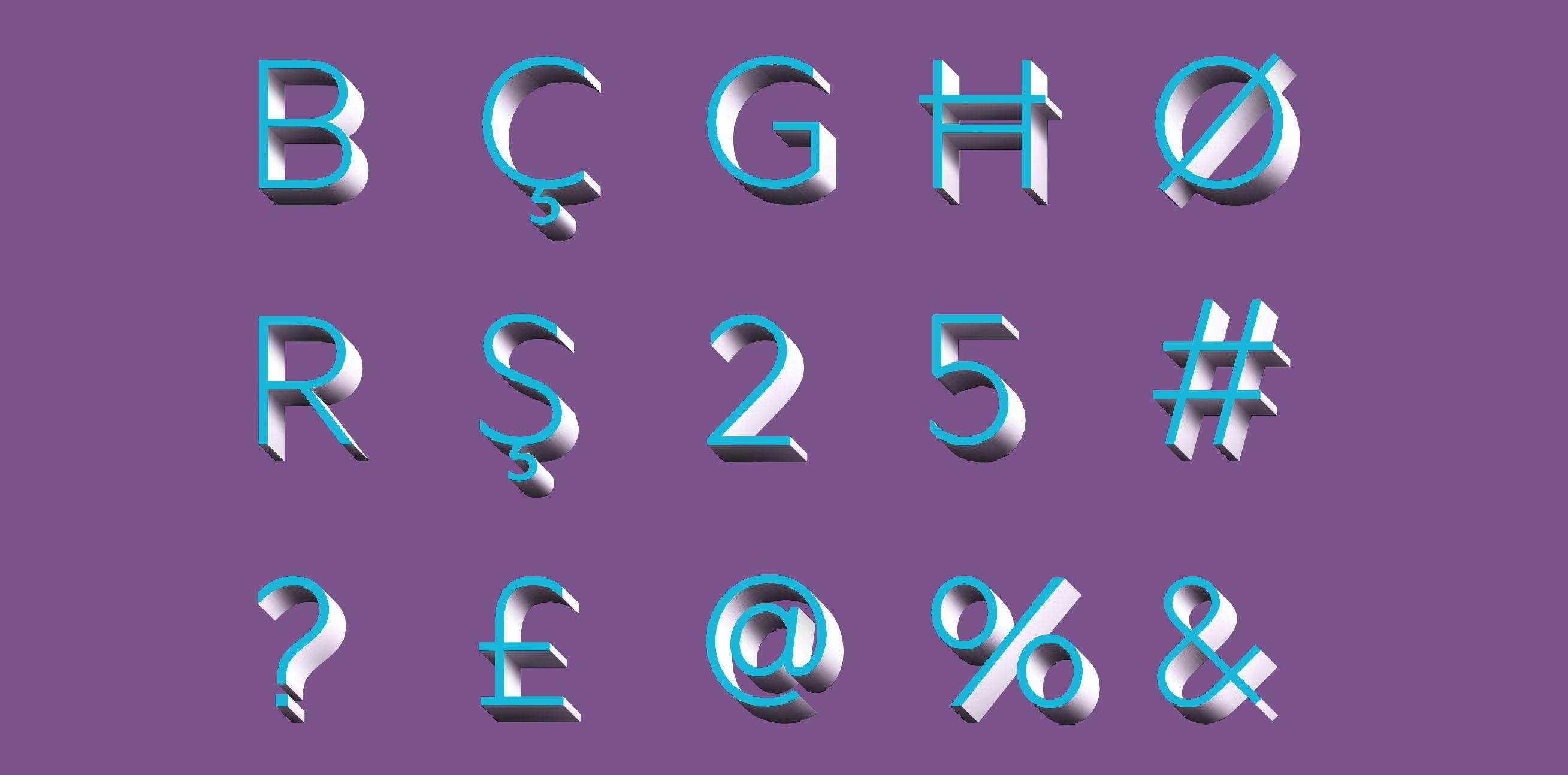 glyphs in Autodesk 3ds Max