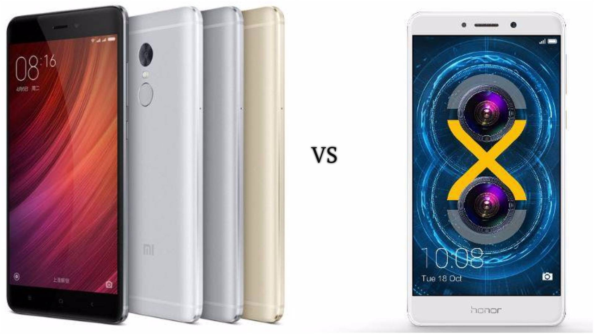 Honor 6X Vs Xiaomi Redmi Note 4 Which e To Buy At Rs