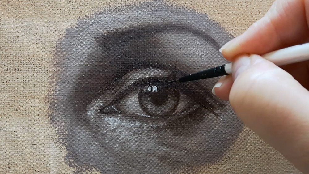 How to create sparkling eyes in oil paint