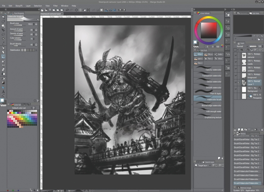 Draw and paint in Photoshop alternative Manga Studio 5