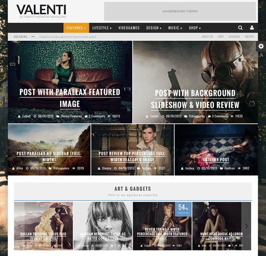 Website templates - Valenti