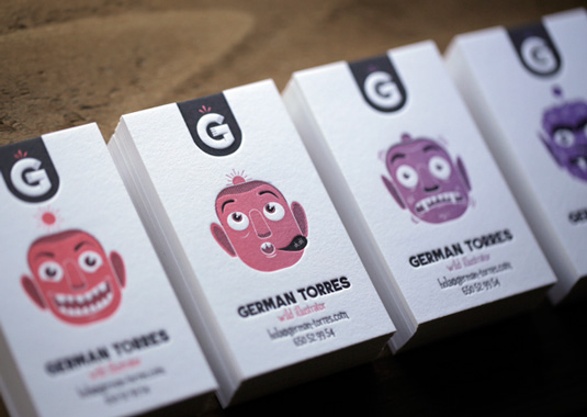 Letterpress business cards: German Torres