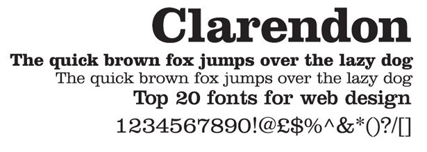 Web fonts: Clarendon