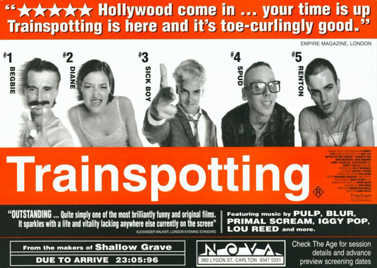 Movie posters: Trainspotting