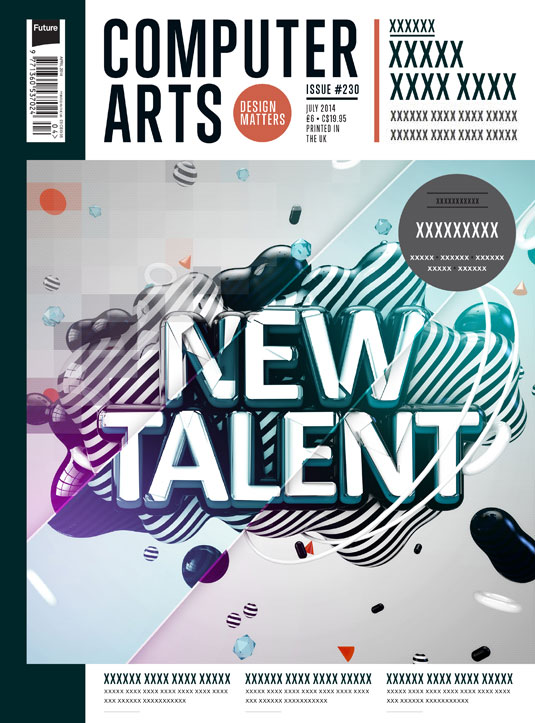 Cover design for CA's New Talent issue by Neville Cassar