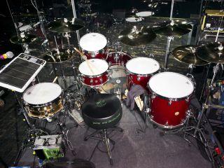 Clem Burkes Drum Setup In Pictures