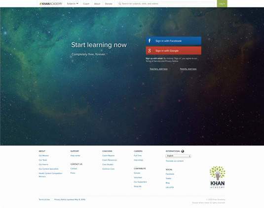 Online coding course: Khan Academy