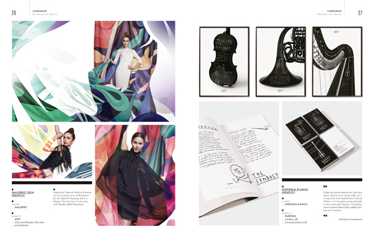 Spread from the Corporate section of the Illustration Annual