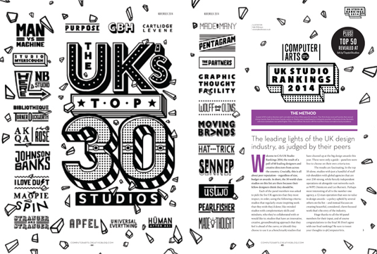 UK Studio Rankings 2014