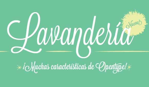 Free cursive fonts: Lavanderia
