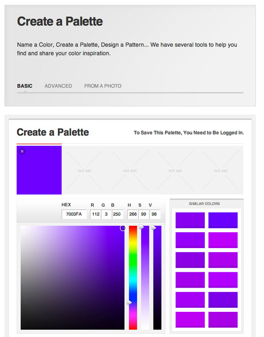 Colour scheme tools