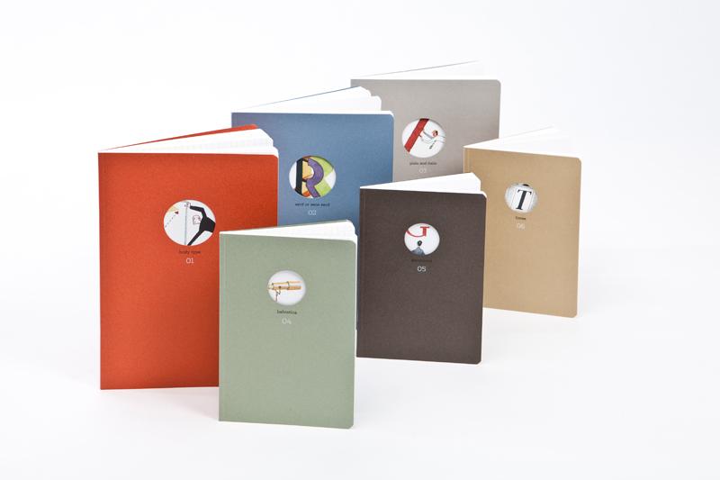 typography notebooks
