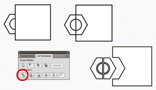 Pathfinder in Illustrator: step 9