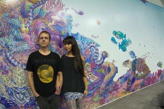 Underwater-inspired mural