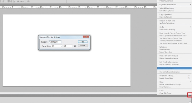 animation in Photoshop: step 3