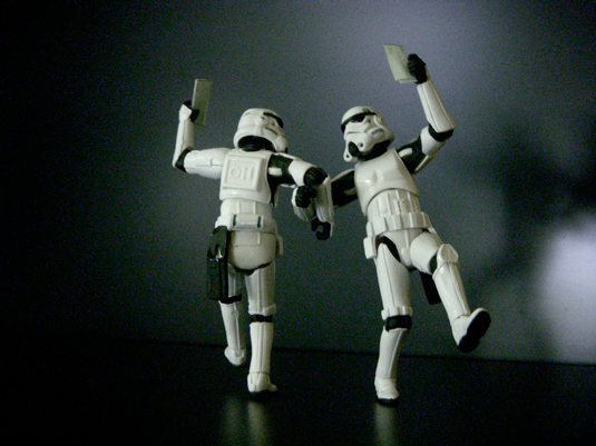Stormtroopers getting paid