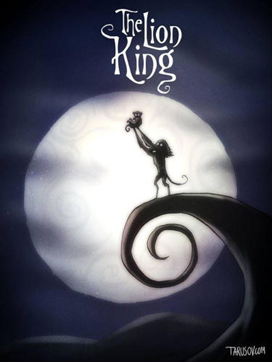 Disney films Tim Burton style: The Lion King