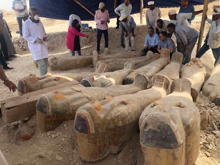30 Perfectly Preserved Coffins Holding Ancient Egyptian Priest Mummies Discovered