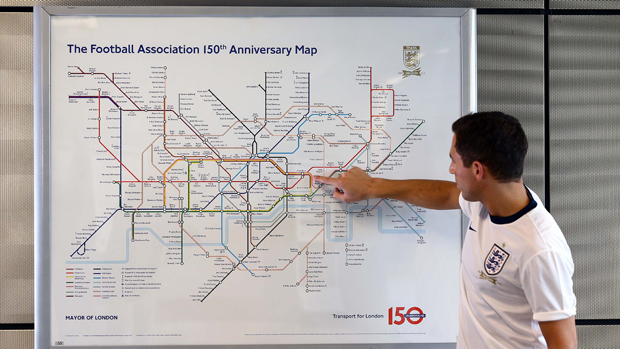 Tube Map Reinvented For Soccer Fans