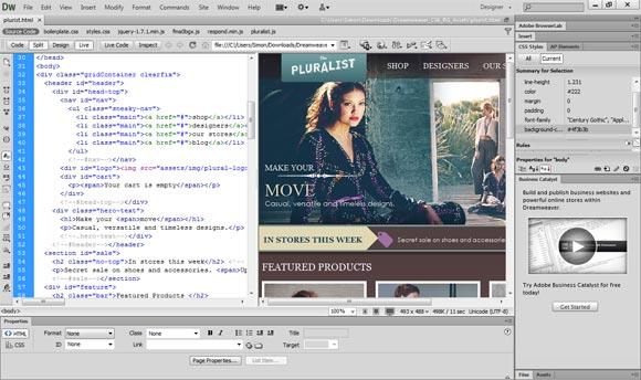 Dreamweaver CS6 Live View