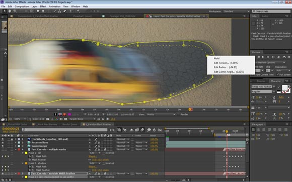 Variable mask feathering in After Effects CS6