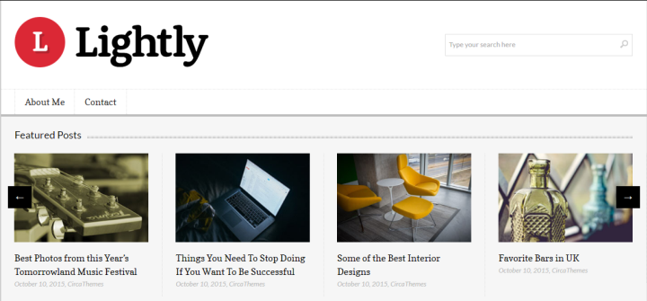 Free WordPress themes: Lightly