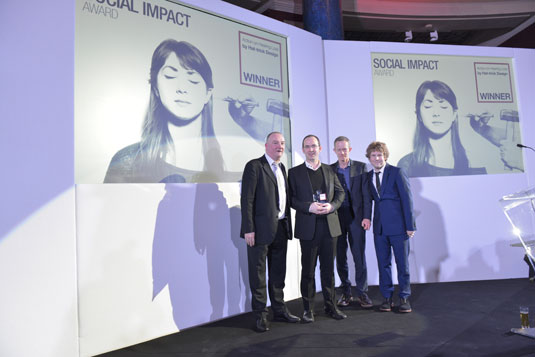 Hat-trick scooped the special Social Impact award