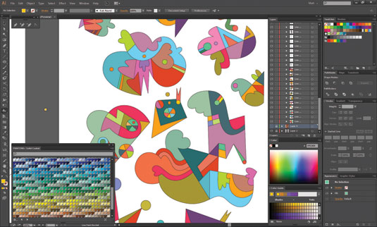 How to design an abstract collage-style pattern