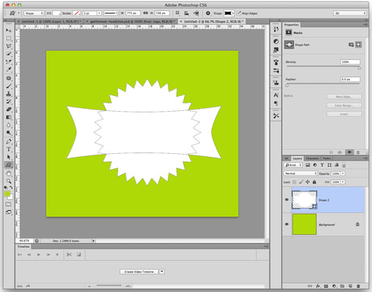 Photoshop secrets: Merge vector shapes