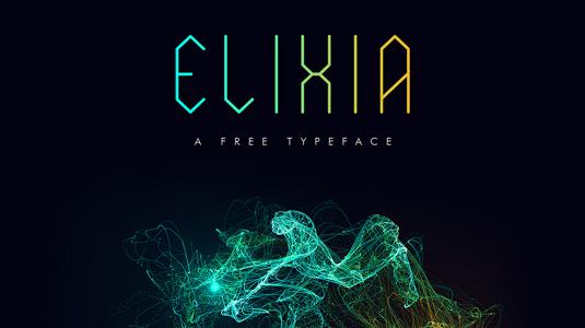 Free font: Elixia