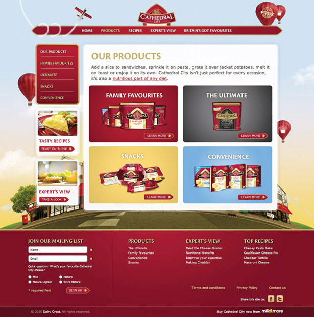 Cathedral City redesign: product page