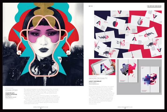 spread from Computer Arts magazine