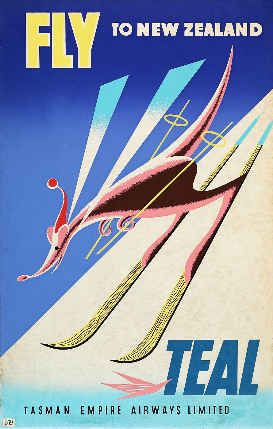Air New Zealand vintage posters