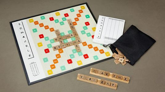 Typography Scrabble board