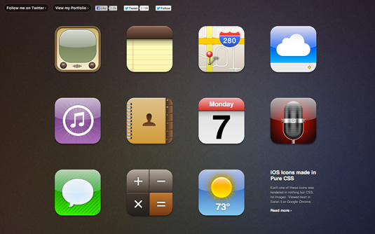 CSS3 images: iOS Icons